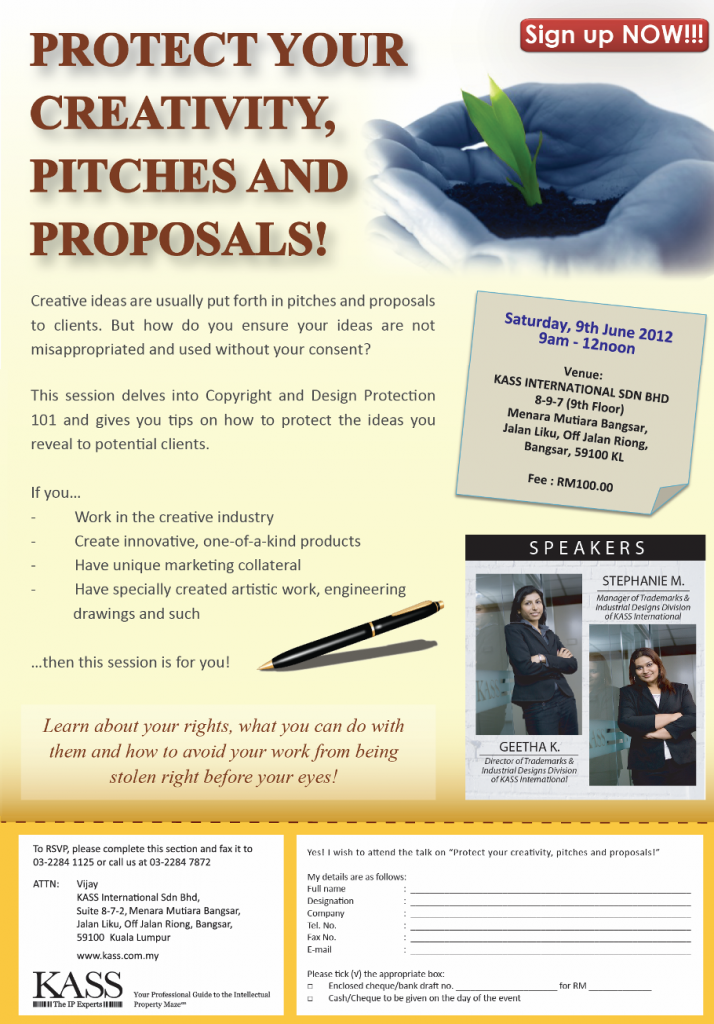 Protect Your Creativity Pitches Products