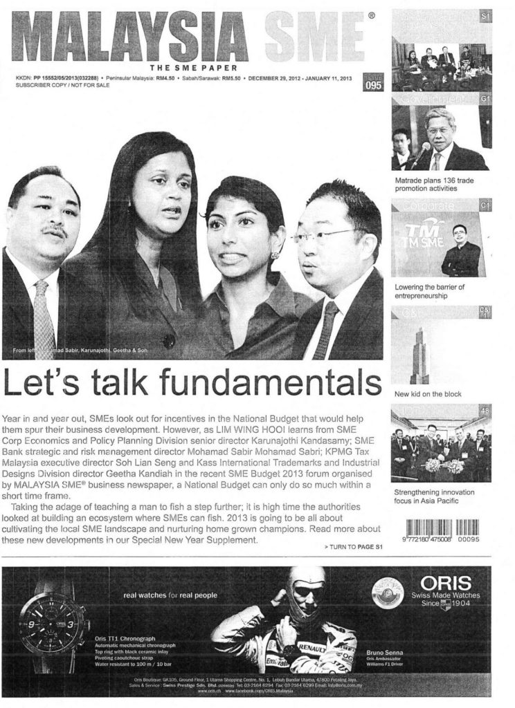 [Malaysia SME] SMEs' Creation Today Could Be Tomorrow's Treasure (and beyond) Pg1