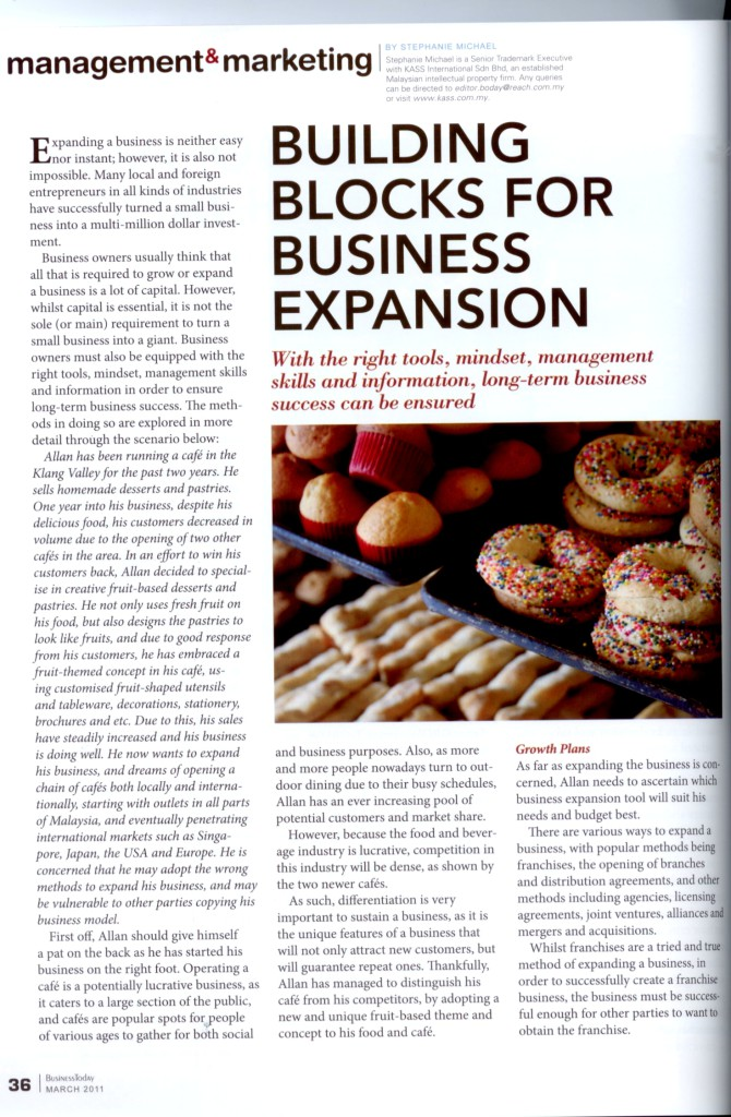 [Business Today] Building Blocks for Business Expansion - Page 1