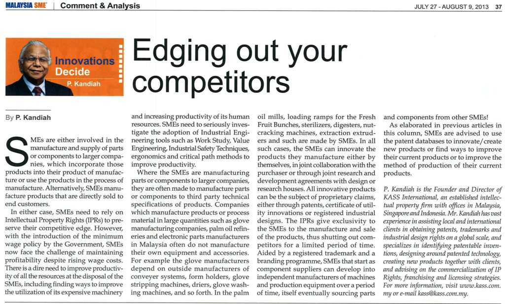 [Malaysia SME] Edging Out Your Competitors
