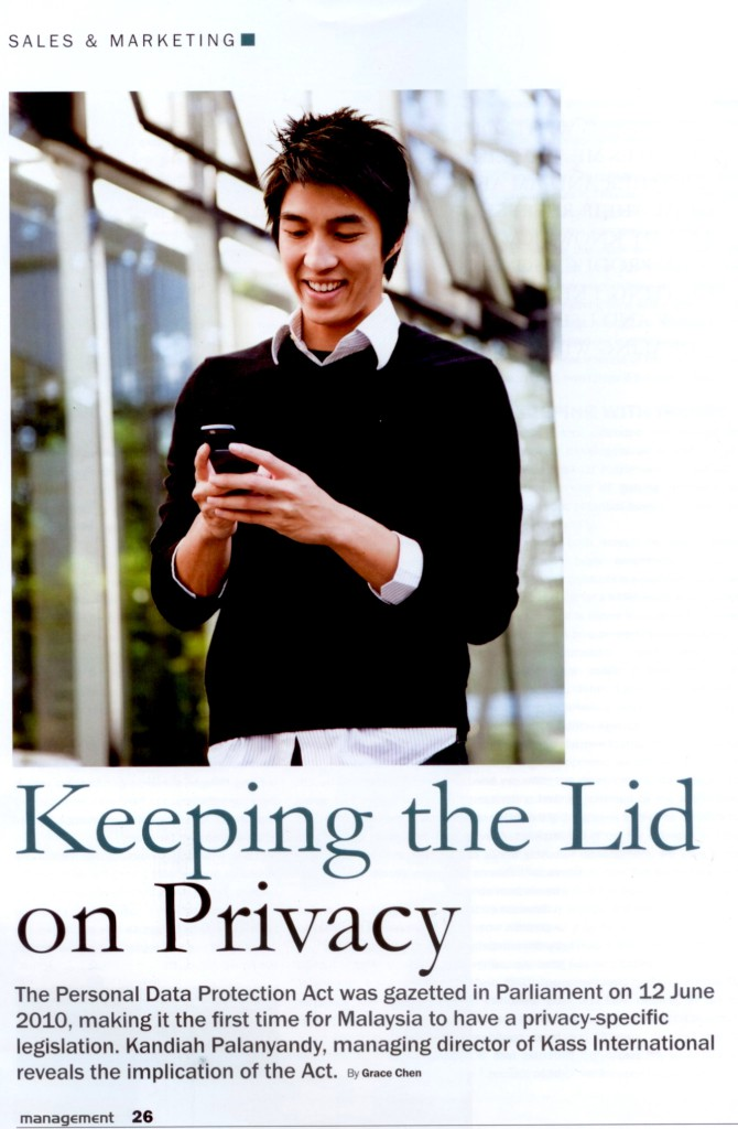 [Malaysian Institute of Management] Keeping the Lid on Privacy-Pg 1