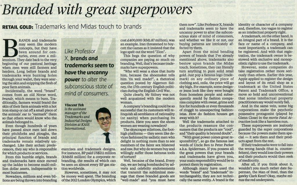 [新星期日时报] Branded with great superpowers