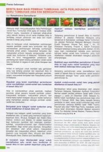 Info Pertanian Berita Baik Bagi Pembiak Tumbuhan Akta Perlindungan