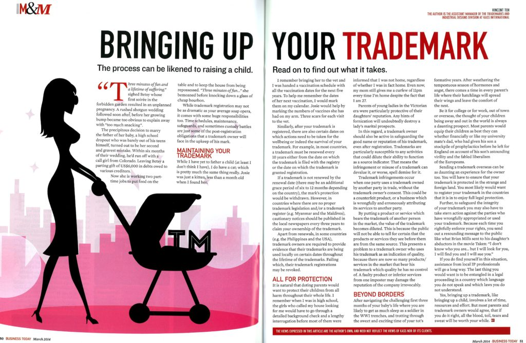 [Business Today] Bringing Up Your Trademark