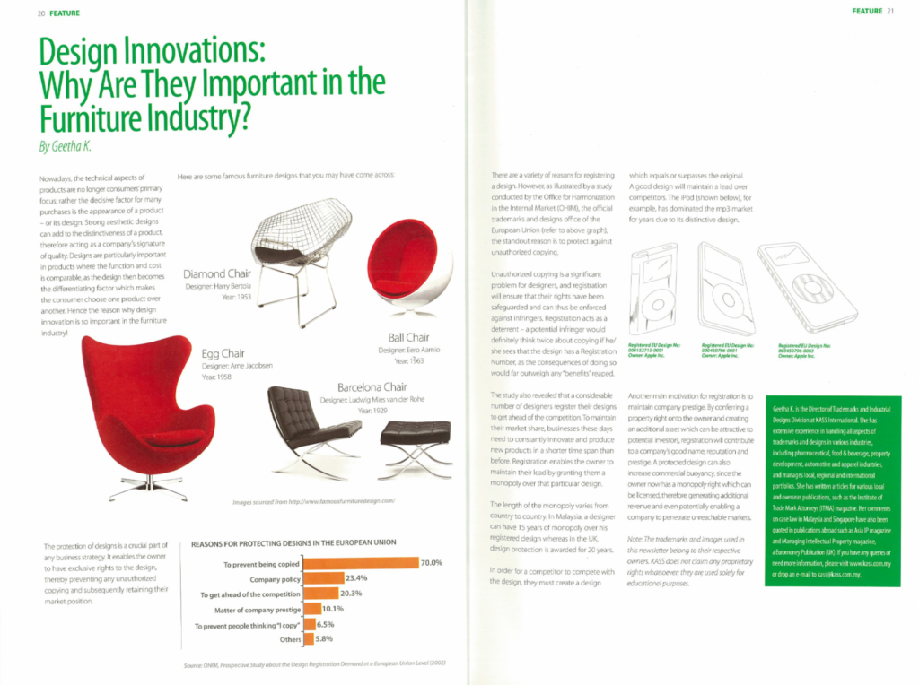 [MGCC perspectives] Design Innovations - Why Are They Important in the Furniture Industry - Jan&Feb 2013