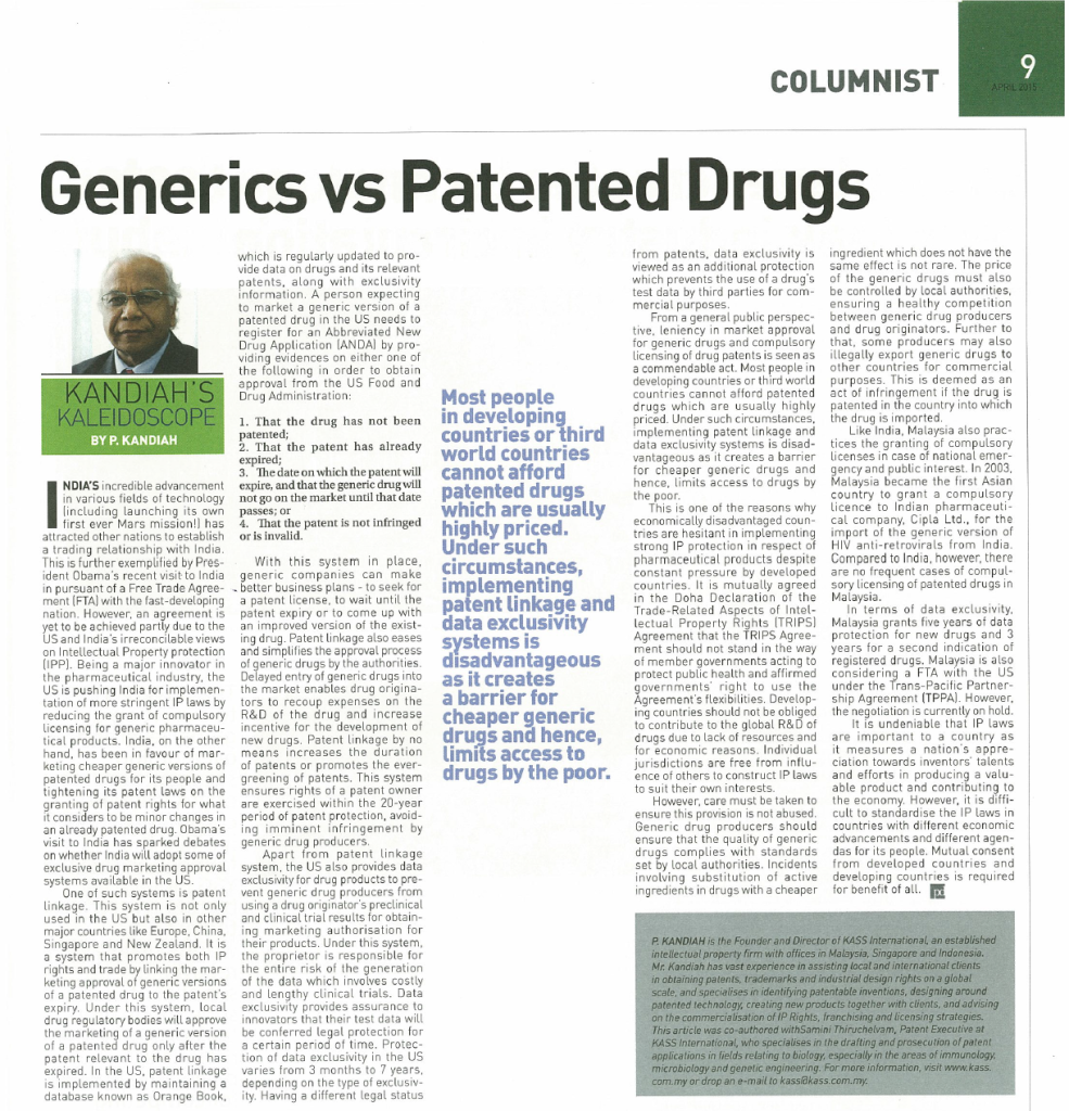 [Petri Dish] Generics vs Patented Drugs