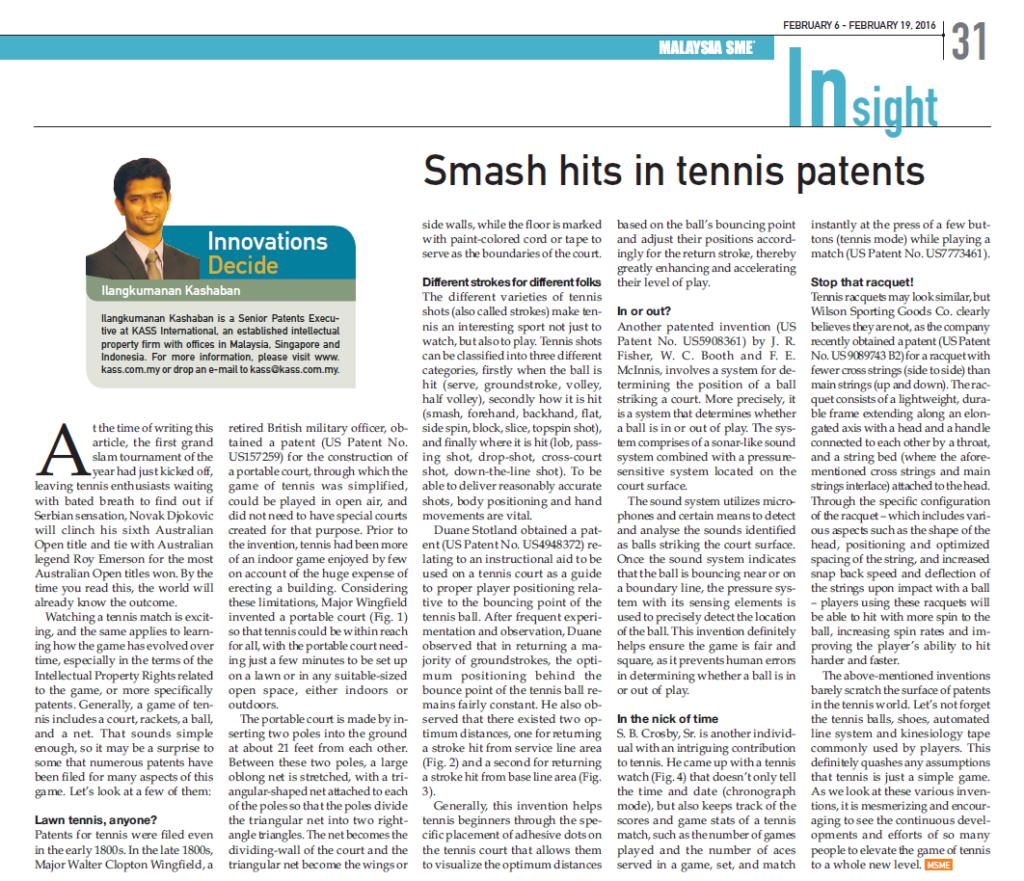 [MSME] Smash Hits in Tennis
