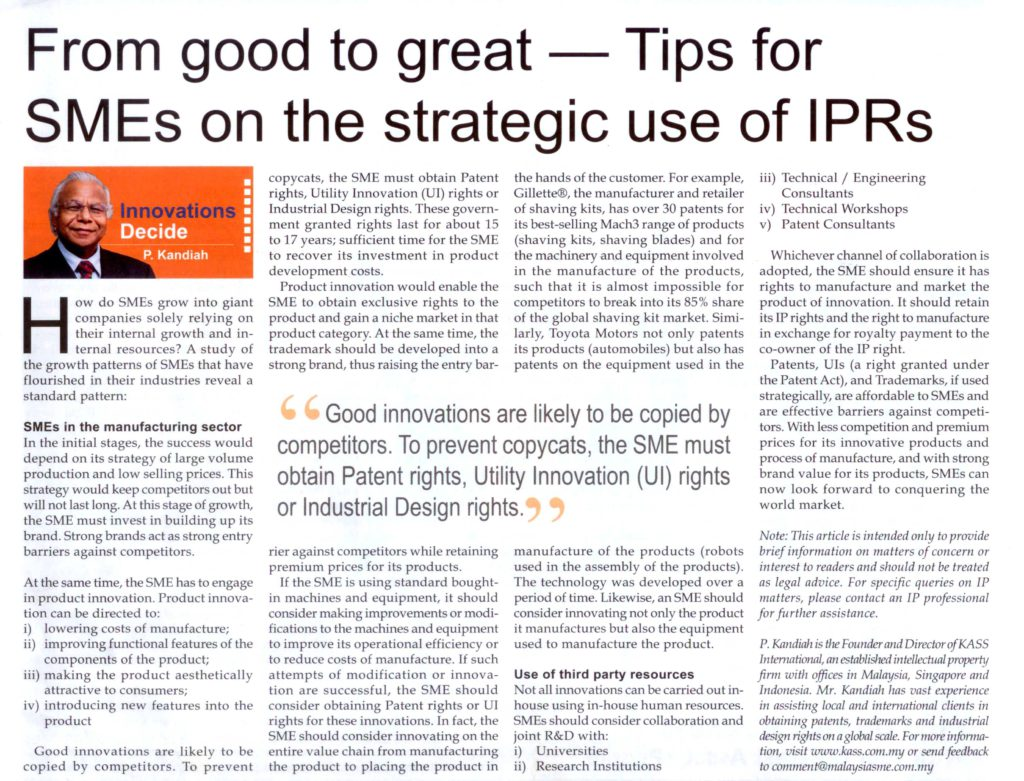 Malaysia-SME-From-good-to-great-Tips-for-SMEs-on-the-strategic-use-of-IPRs