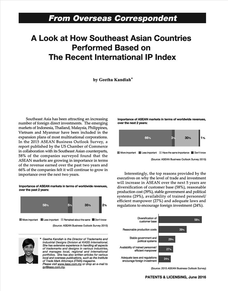 [Patents & Licensing] A look at how our Southeast Asian countries performed based on the recent International IP Index - Pg_01