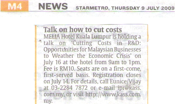 The-Star-9th-July-2009-Event-Listing-on-Melia-Hotel-Talk