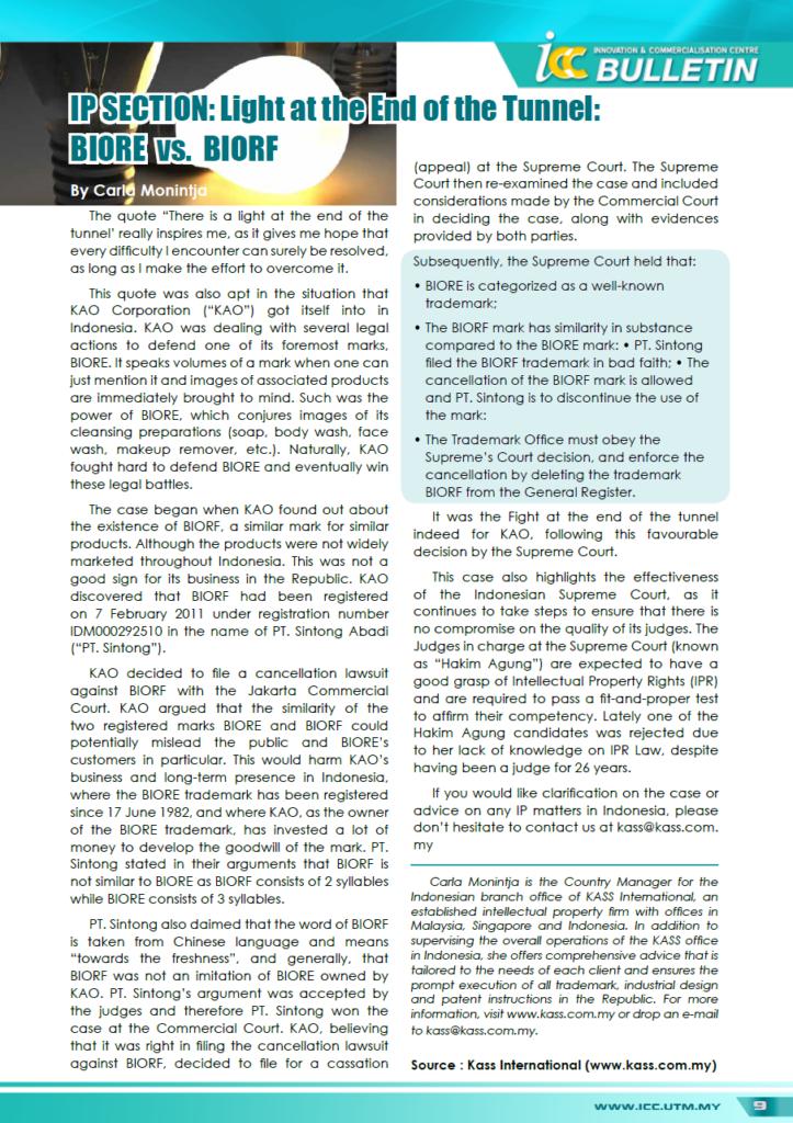 UTM-ICC-Bulletin-Biore-v-Biorf